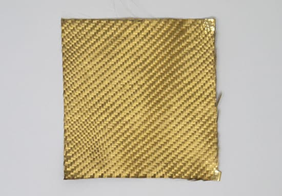 Carbon fabric with gold coating