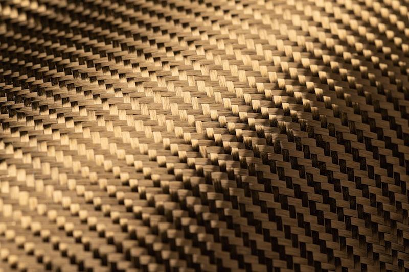 Carbongewebe mit Goldbeschichtung